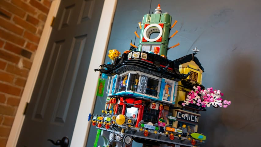 LEGO models can be found throughout the house.