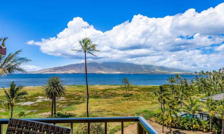 1BR Oceanfront Views; Clean Kihei Vacation Condo