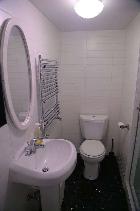 Your private, ensuite, brand new bathroom with towel warmer.