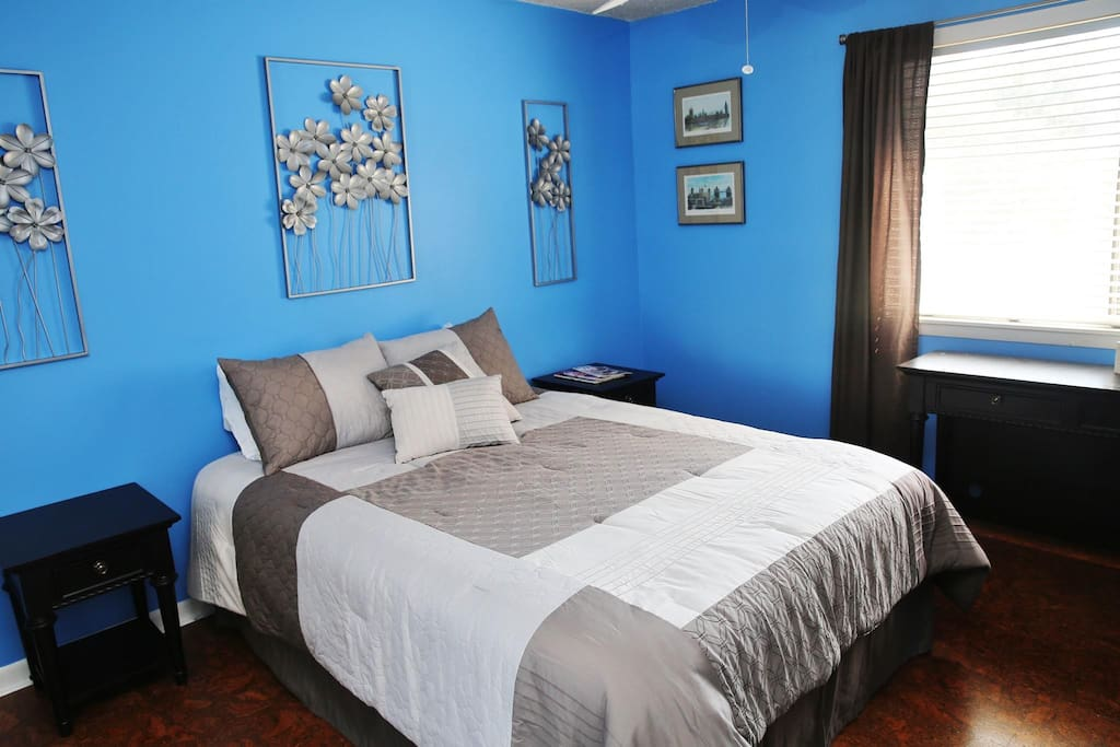 The room will comfortably accommodate two adults and has a large closet.