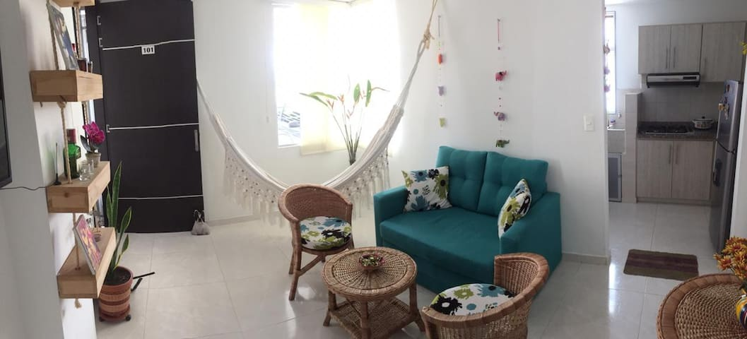 Relaxing flat with air condtioning in sunny Cucuta