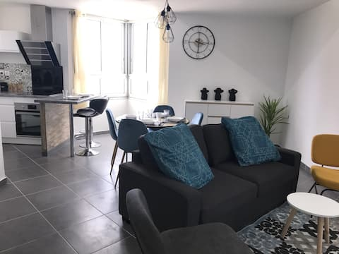 Appartement moderne, très bien situé mais au calme