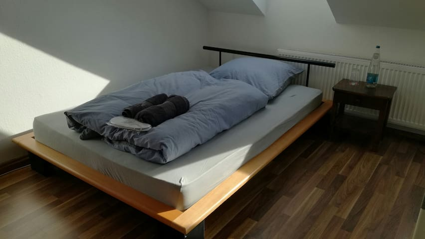 140 cm x 200 cm Bed in your Privateroom