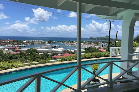 Rodney Bay Sea View Studio, with Jacuzzi and Pool. - Apartmen