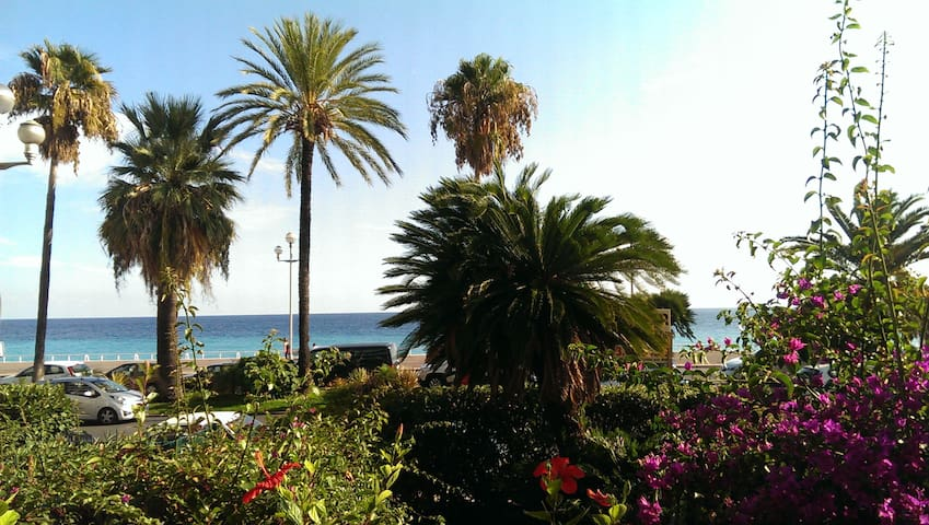 New flat with sea view & garden on the Promenade - Nizza - Appartamento