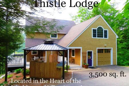 Thistle Lodge: walk to ski trails on Attitash
