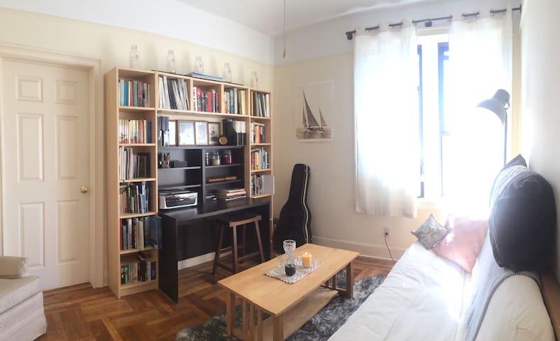 Sunny & Clean 1BR Apartment by pretty BK park - Brooklyn - Apartemen