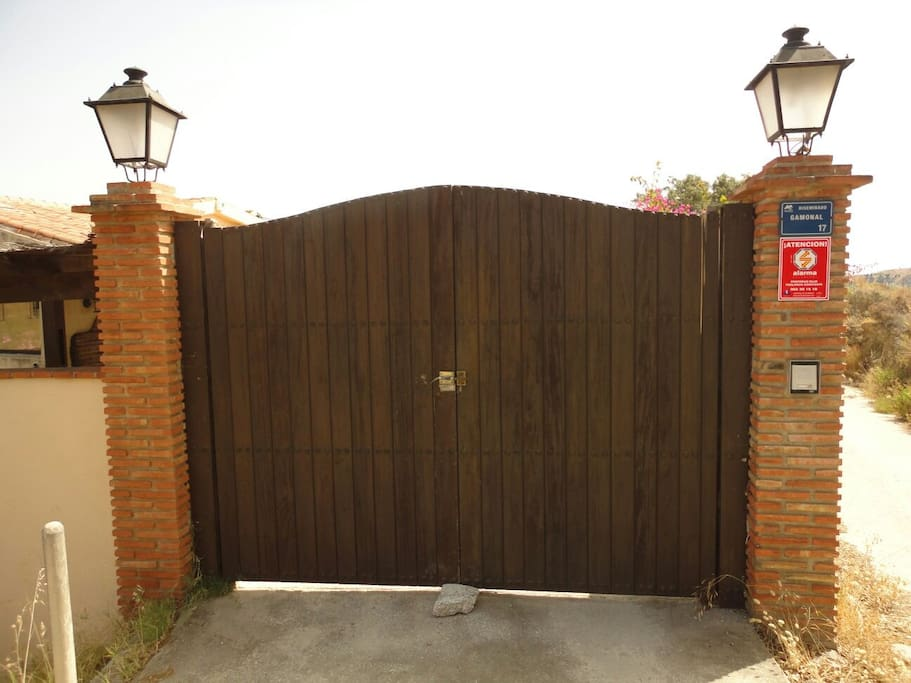 Large front gate