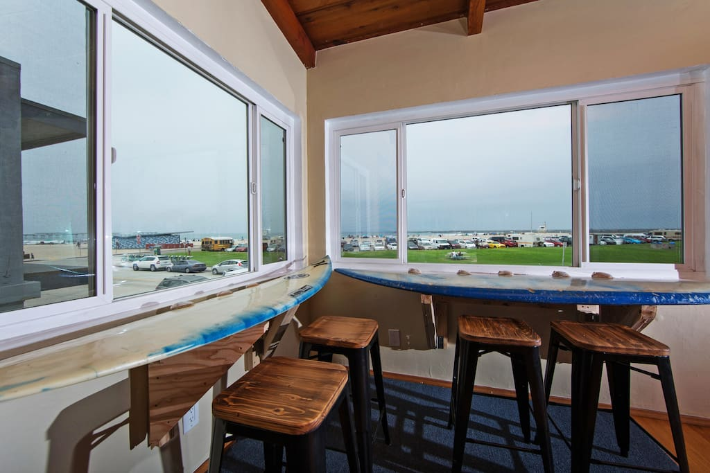 Views of the ocean from the Breakfast Nook.