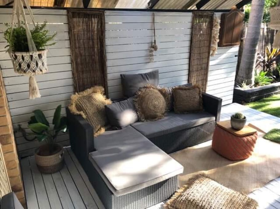 Private deck with lounge
