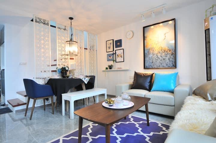 泰富慧寓,南湖区精美Loft复式两房公寓