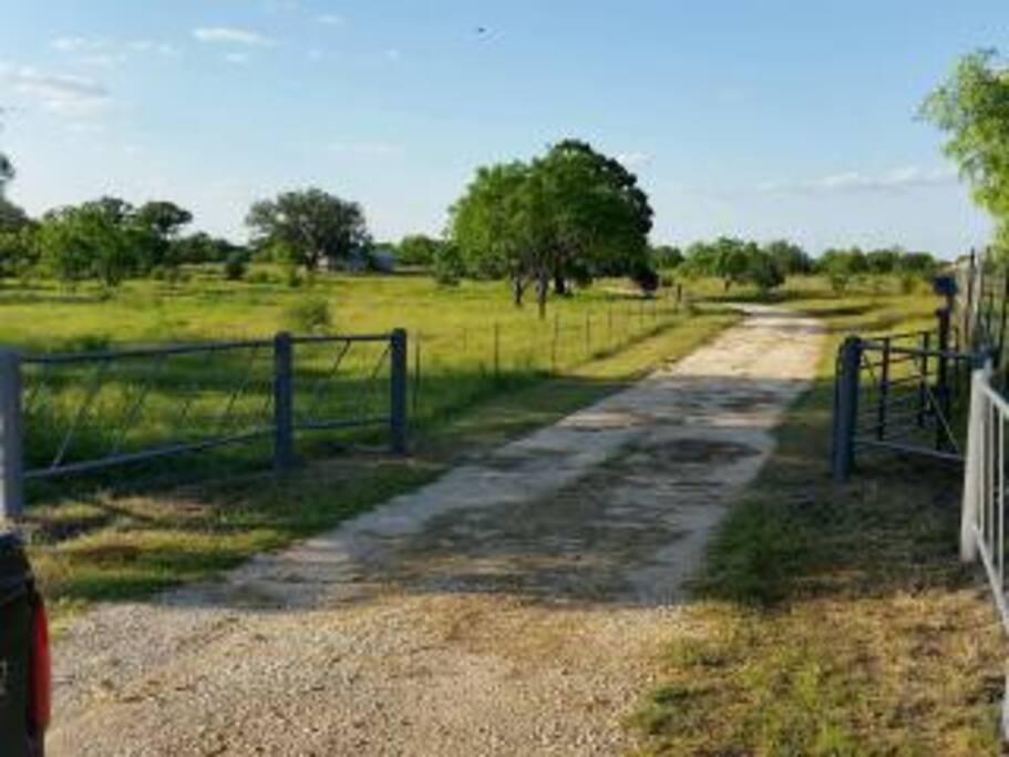 gated entrance off highway