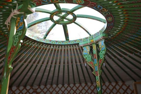 Clochforbie autentikus mongol jurta (zöld)