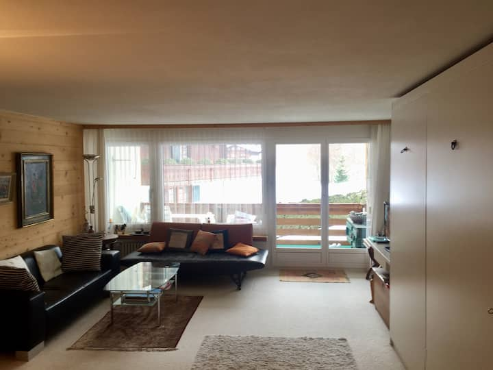 Bright cosy apartment in Gstaad near Eggli
