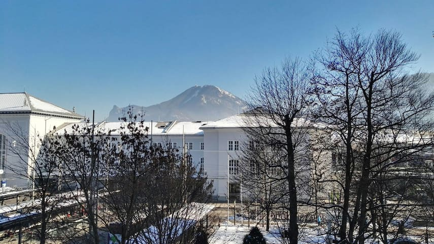 City-Center flat next mainstation + mountain view! - Salzburg - Daire