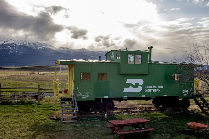 The Depot-Stay in a real Caboose!