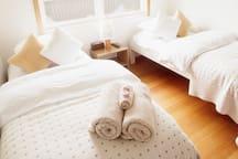 Each Villa contains a comfortable twin room