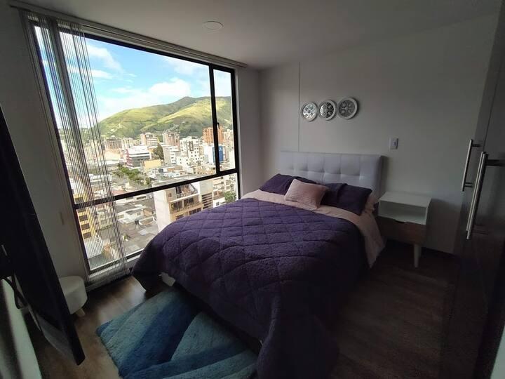 Confortable habitación con espectacular vista