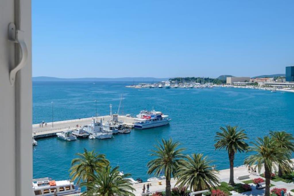 sea and main promenade view