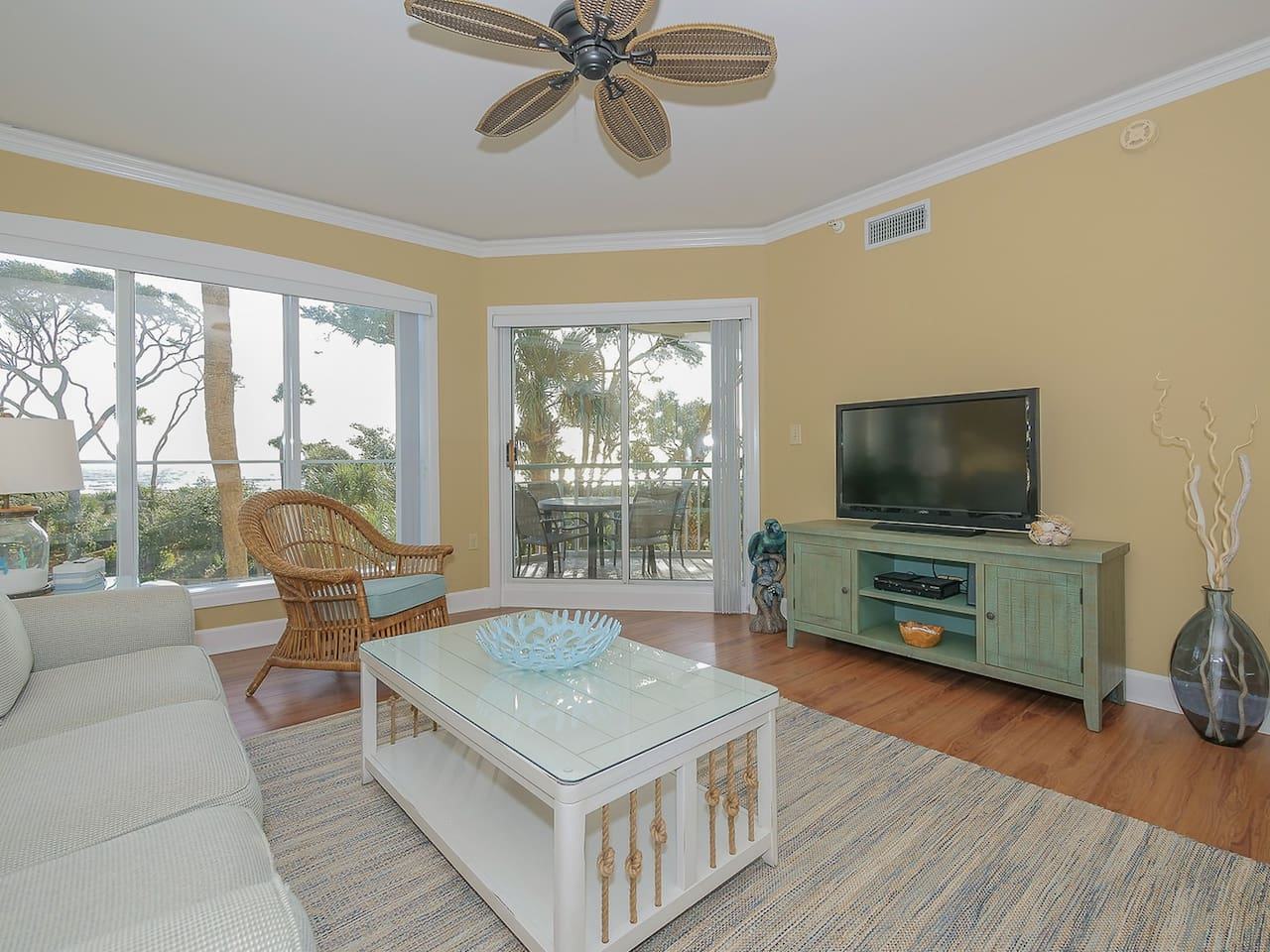 Living Room with 2nd Floor Ocean Views at 211 Windsor Place