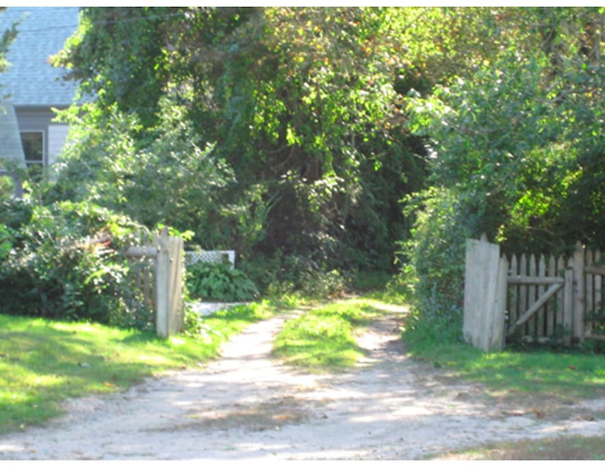 gate to property