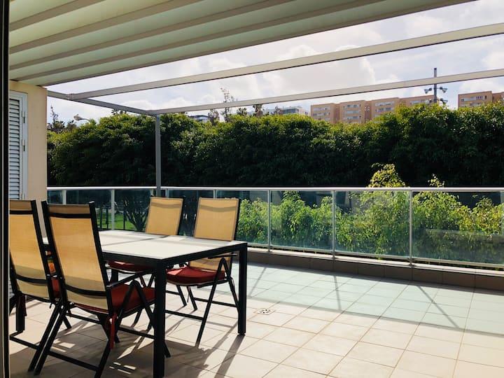 vivienda uni. 3D, 2B, terraza y jardín + WIFI