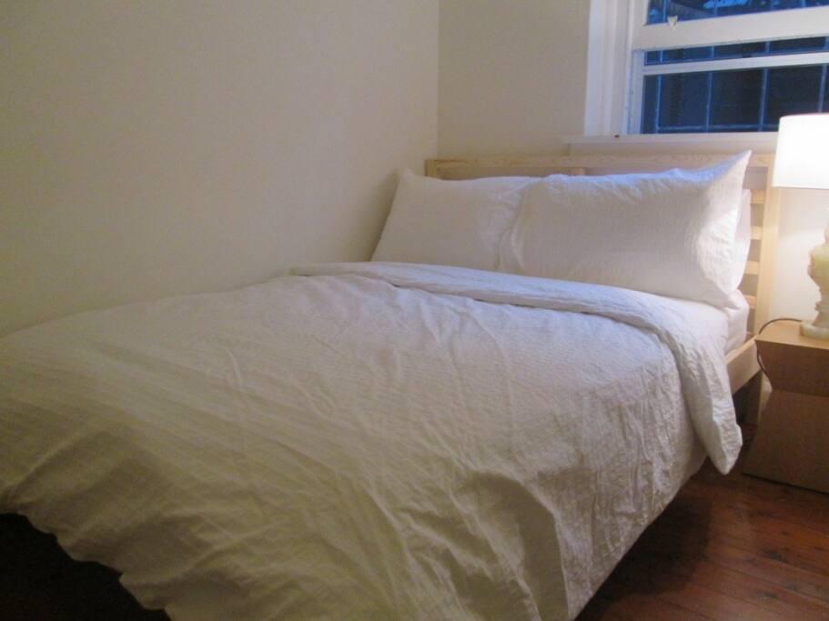 Bedroom with built in wardrobe