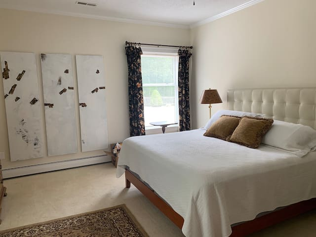 Master bedroom with King bed as well as a twin bed. Large private master bathroom.