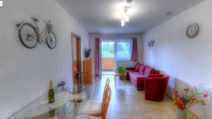 4-lůžkové apartmá v Apartmánech Nad Rybníky 52 m2