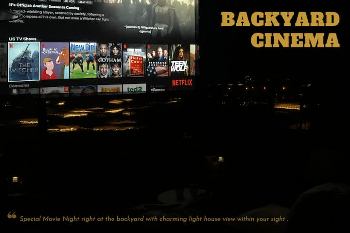 [102] UNIQUE GETAWAY EXPERIENCE W/ BACKYARD CINEMA