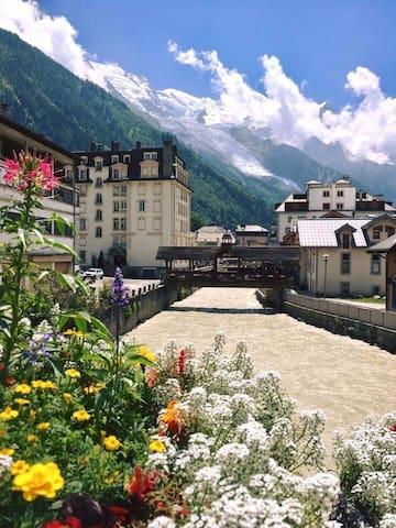 Appartement vue Mont-Blanc