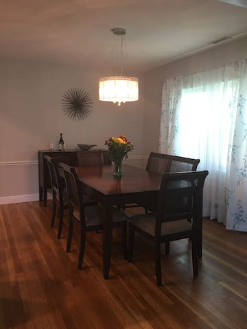 Dining room. There is seating for 6; however, we have extras on hand if there are more than 6.