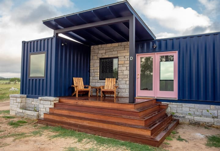 Rosa at Odonata Escape -- luxury container home stay in the country