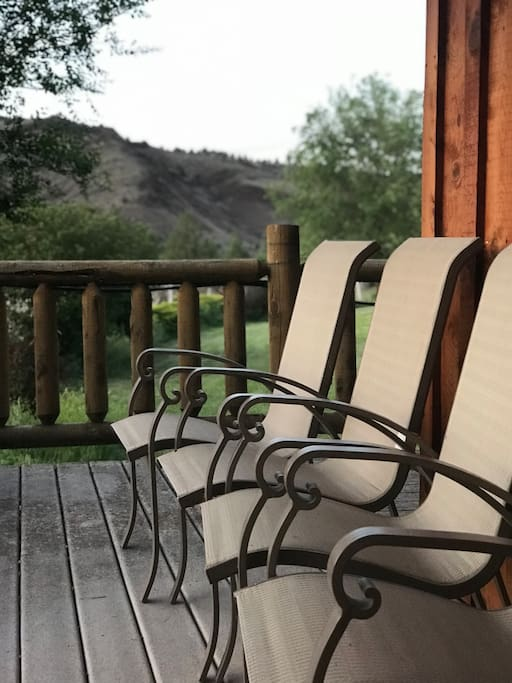 Plenty of covered outdoor seating for taking in the sunsets and beautiful scenery.