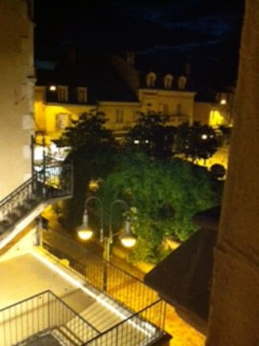 Our Square at night