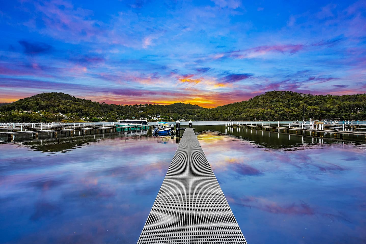 a perfect place to view the beautiful sunsets from the end of our jetty.