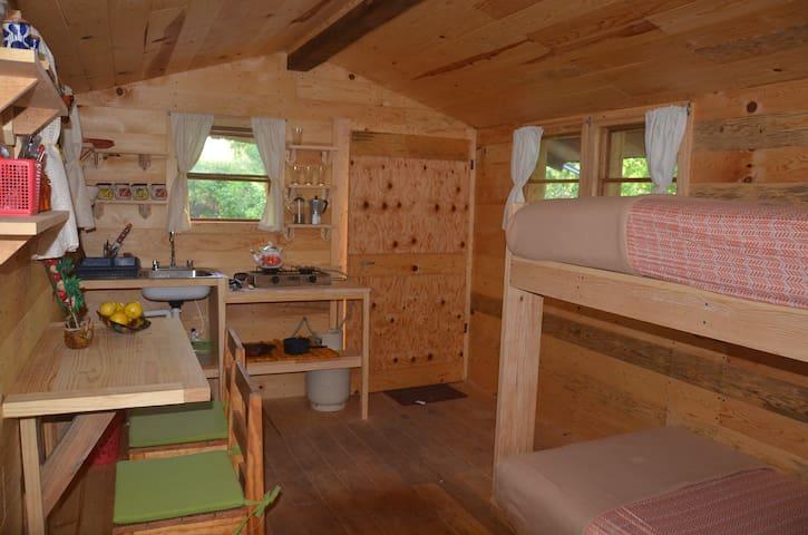 Potrero Chico wooden cabin for climbers.