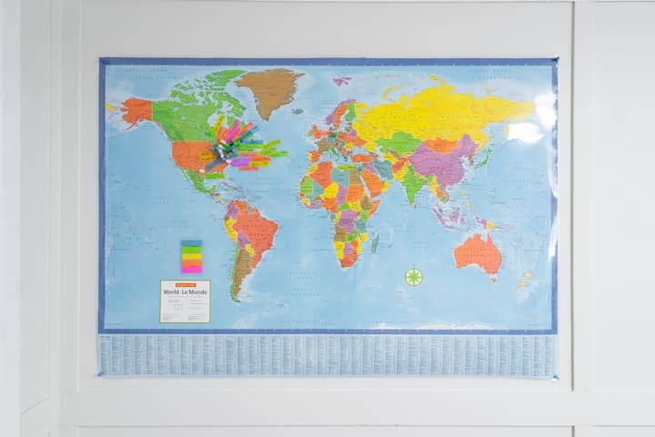 Mark your stay on our world map.