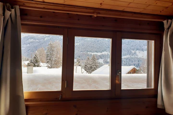 Appartement à l'arrivée de la piste de ski...