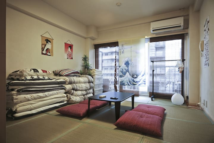 ★Shinjuku 4 min Japanese Style Room w/ free wifi★ - Nakano - Appartement