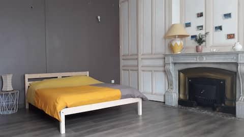 Chambre 25 m2,  salle d eau et WC privatif