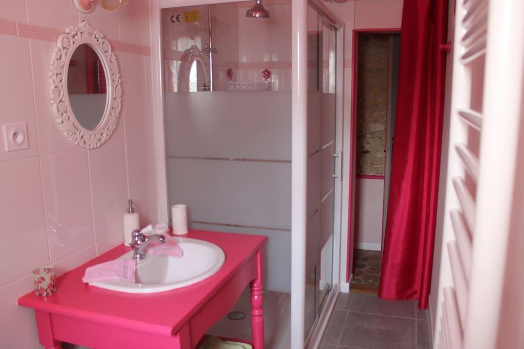 Salle d'Eau Romance avec WC