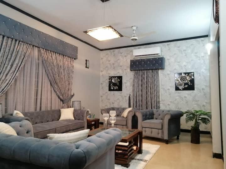 Beautiful Furnished House on Ground Floor, Karachi