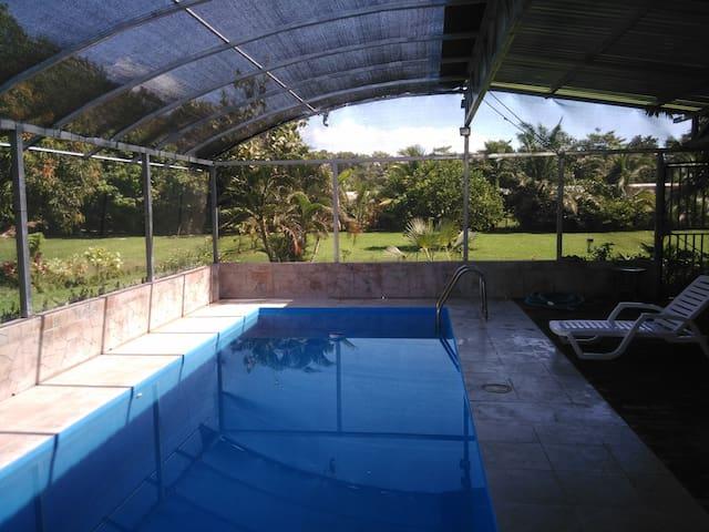 Wir bieten ein Zimmer mit Pool.