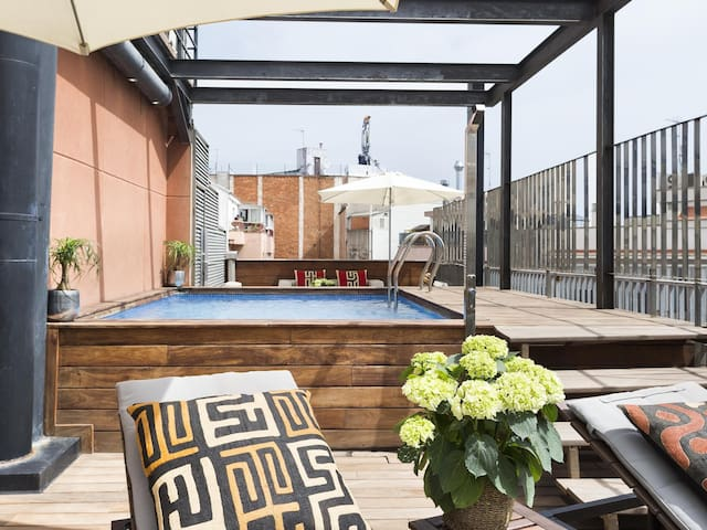 Pool Apartment in Gothic Quarter, Barcelona for 8