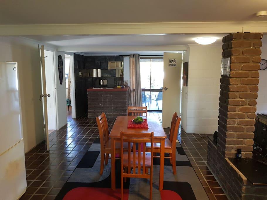 Roomy dinning area