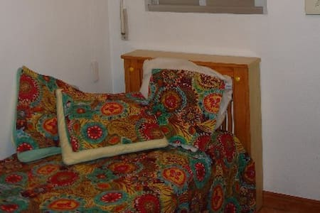 Cheery small but well-furnished room with bath - Pozuelo de Alarcón - Condominium