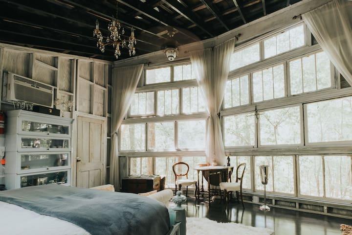 Antique furnishings throughout & beautiful hardwood flooring. (photo by Ashton Staniszewski)