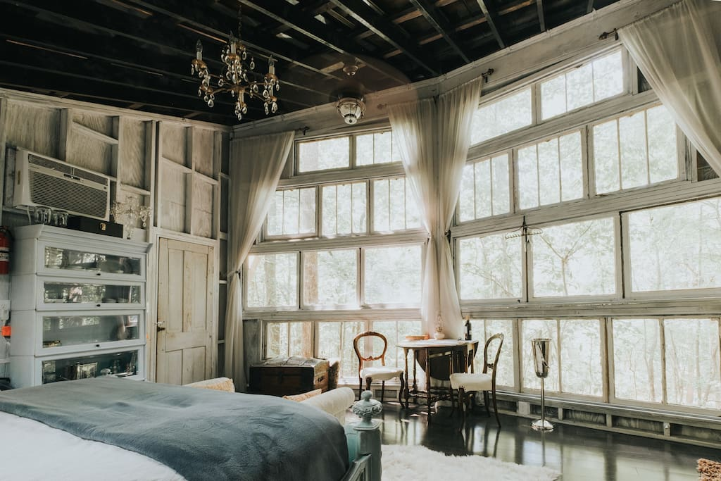 Antique furnishings throughout & beautiful hardwood flooring. (photo by Ashton Staniszewski)