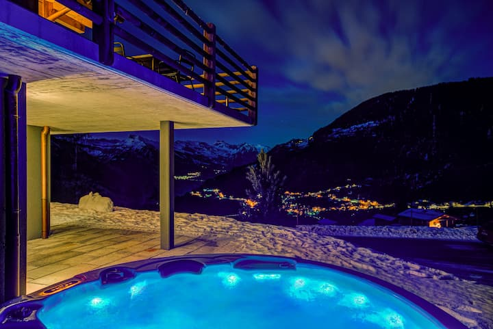 Chalet Aramis - modern 4-bedroom chalet with jacuzzi